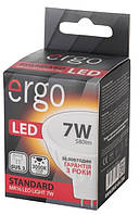 Светодиодная лампа ERGO, 7W, 3000K, тёплого свечения, MR16, цоколь - GU5.3, 3 года гарантии!!!
