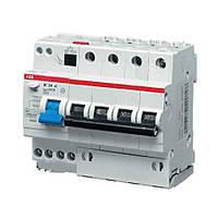 Дифференциальный автомат DS204, 4P, 25А (C), 6кА, 30мА ABB (АББ)