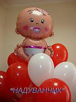Хмаринка 10шт. гелієвих кульок з малюком  Вінниця