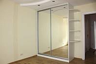 Раздвижные двери - фасады для шкафов-купе  с наполнением стекло лакобель под ваш проём/
