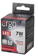 Светодиодная лампа ERGO, 7W, 4100K, нейтрального свечения, MR16, цоколь - GU10, 3 года гарантии!!!