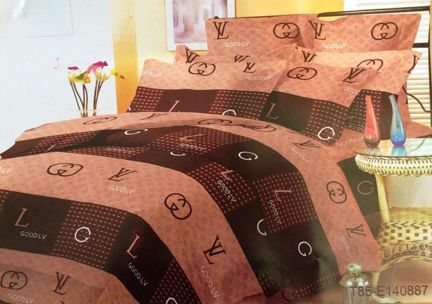 """Евро комплект постельного белья 200*220 из полиэстера """"GOOD LOUIS VUITTON"""""""