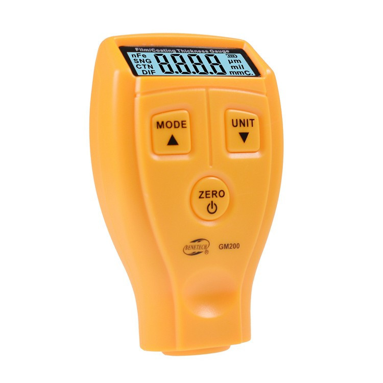 Толщиномер GM200 тестер краски, от 0 мкм до 2,1 мм