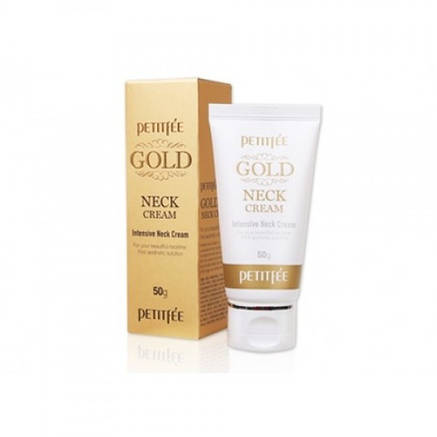 Крем для шеи и декольте с золотом Petitfee Gold Neck Cream 50g, фото 2