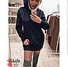 Платье туника замшевая с капюшоном, фото 4