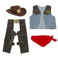 MelissaDoug MD4273 Cowboy Role Play Costume Set Костюм Ковбой