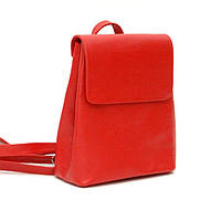 Женская кожаная сумка-рюкзак красная (Украина)