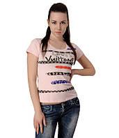 Футболка женская LOUIS VUITTON розовая, фото 1