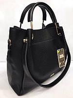 Черная женская сумка-шоппер B.Elit с отстёгивающимся кошельком