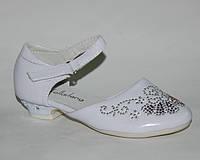 Туфли для девочки р.32-37 ТМ  KLF: YL311B white.новый год