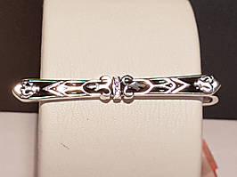 Серебряный зажим для галстука с эмалью. Артикул 909-00252