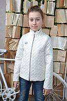 Тонкая стеганая куртка на девочку, 128 - 164 см. Ветровка детская, подростковая. Весна осень 2017.