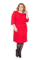 Нарядное платье Бриллиант красный  (50-58)