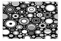 Светящиеся картина Startonight Узор Абстракция Черно Белые Печать на Холсте Декор стен Дизайн дома Интерьер