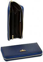 Женский кожаный кошелек на молнии Bretton WF-38 blue, фото 1