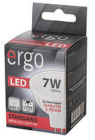 Светодиодная лампа ERGO, 7W, 4100K, нейтрального свечения, MR16, цоколь - GU5.3, 3 года гарантии!!!