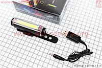 Велосипедный фонарь передний 6 диодов 100 lumen  Li-ion 3.7V 500mAh зарядка от USB