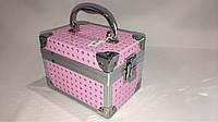 Кейс для косметики и бижутерии  розовый