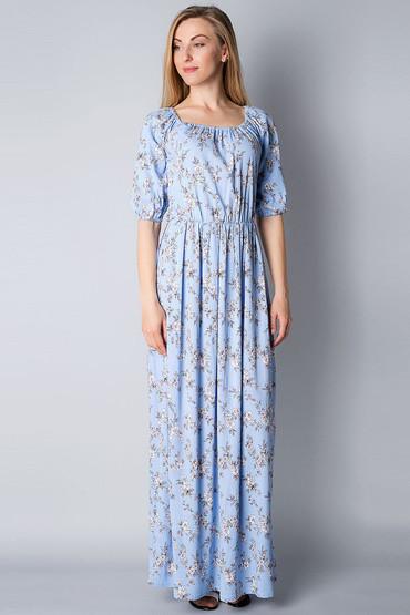 Платье в пол из льна П185