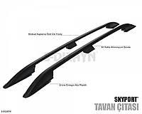 Рейлинги Toyota RAV4 2014+  черные Crown (цельные)