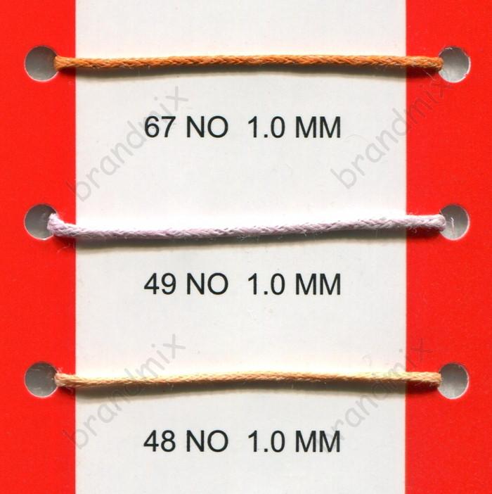 Вощеный шнур 1мм в ассортименте