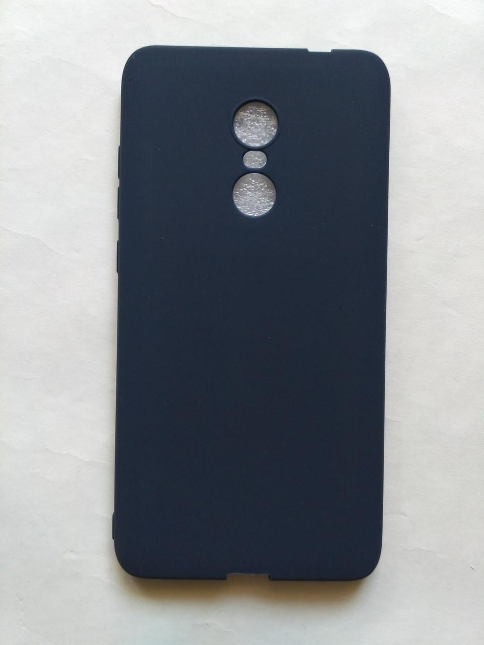 Силиконовый чехол для Xiaomi Redmi Note 4 темно синий матовый