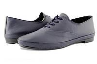 Спортивные женские туфли на низком каблуке, натуральная кожа.