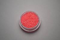 """Песок, глиттер для дизайна ногтей пастельный """"тёмно-розовый"""" 0.2мм"""