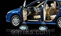 LED логотип в двери автомобиля