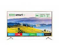 Телевизор Kivi 43UX10S Gold + 2 года гарантии SmartTV (Android) Wi-Fi + 2 пульта