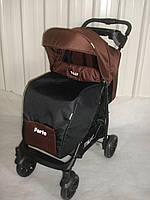 Детская прогулочная коляска TILLY Forte T-1408 BROWN, коричневая