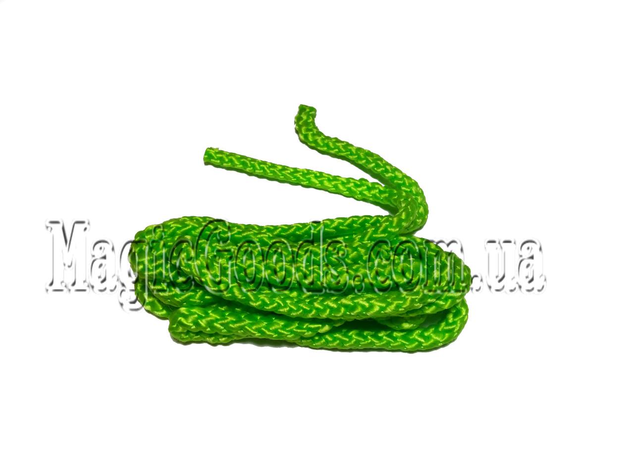 Скакалка для художественной гимнастики 3 м. Зеленая.