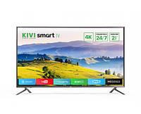 Телевизор Kivi 43UX10SGray + 2 года гарантии SmartTV (Android) Wi-Fi + 2 пульта