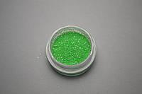 """Песок, глиттер для дизайна ногтей пастельный """"зелёный"""" 0.2мм"""