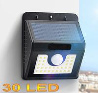 LED светильник 3W 300LM с датчиком на солнечной батарее LM997
