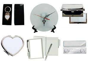 Брелки, визитницы, часы, зеркальца, записные книжки, магнитные держатели