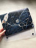 """Дизайнерский синий мраморный чехол для MacBook Pro Retina 12"""""""