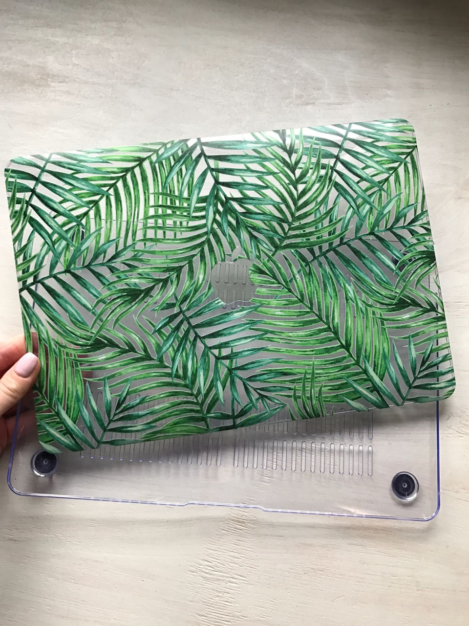 """Дизайнерский прозрачный чехол с тонкими листьями для MacBook Pro Retina 12"""""""