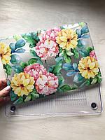 """Дизайнерский прозрачный чехол с цветами для MacBook Pro Retina 12"""""""