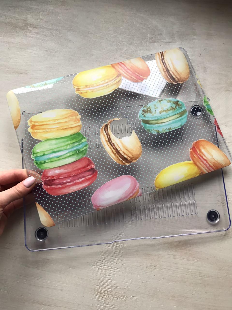 """Дизайнерский прозрачный чехол с макарунами для MacBook Pro Retina 12"""""""