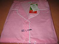 Пижама женская  100% хлопок размер ХХL (52) с воротником на пуговицах