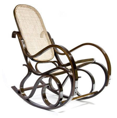 Кресло-качалка Rafia (темное, сетка)