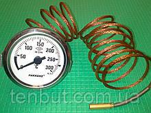 "Термометр металлический Ø-60 мм. / 0-300""С / 2-метра .Производство Турция PAKKENS"