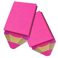 Стикер на магните  90х55 мм, 50 листов «Розовый карандаш»
