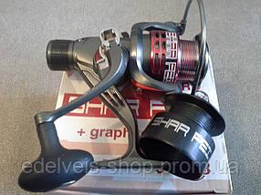 Катушка спиннинговая Bratfishing SHAR PEI 4000 RD 3+1 BB (задний фрикцион)