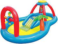 Детский надувной игровой центр Intex 57449 мельница с горкой и фонтанчиком