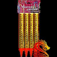 Тортовые свечи Юбилейные FS-5, длина свечи: 18 см., время горения: 80 секунд, цвет искр: серебряный