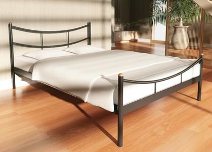 1Металлическая кровать SAKURA (Сакура) Металлик, без изножья, 180х190