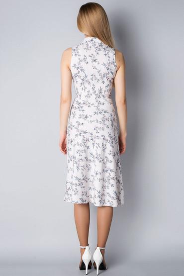 Платье-американка из льна П199