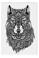 Светящиеся картина Startonight Абстракция ВолкЧерно Белые Печать на Холсте Декор стен Дизайн дома Интерьер